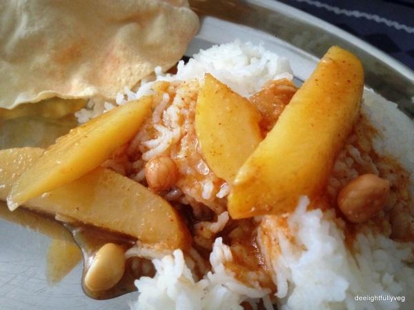 Potato and peanut khara kootu