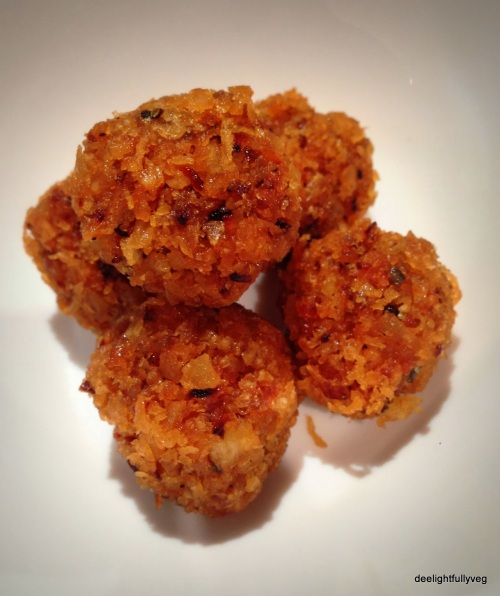 Coconut and jaggery laddoo