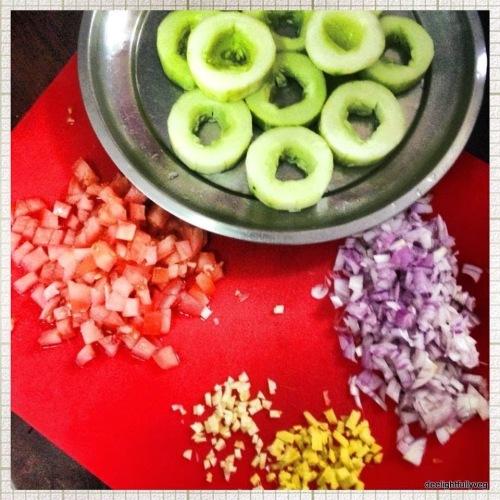 Stuffed cucumber ingredients