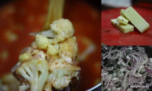 Cauliflower with halloumi ingredients