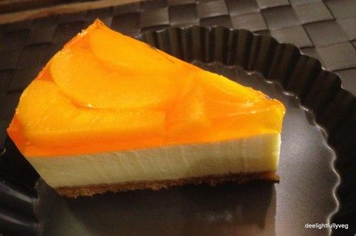 Peach tofu cheesecake
