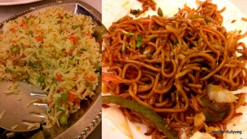 Veg fried rice and Veg noodles
