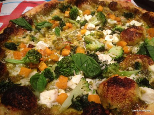 Lean and green pizza