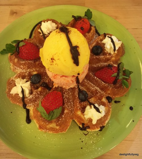 Blossom waffles