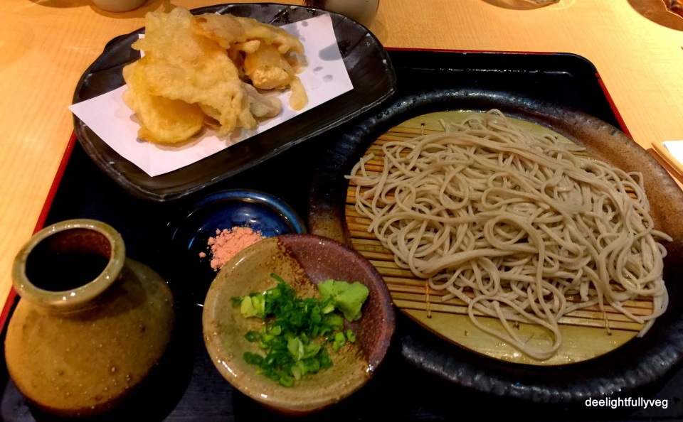 Vegetarian Tempura Sairo / Kake Soba