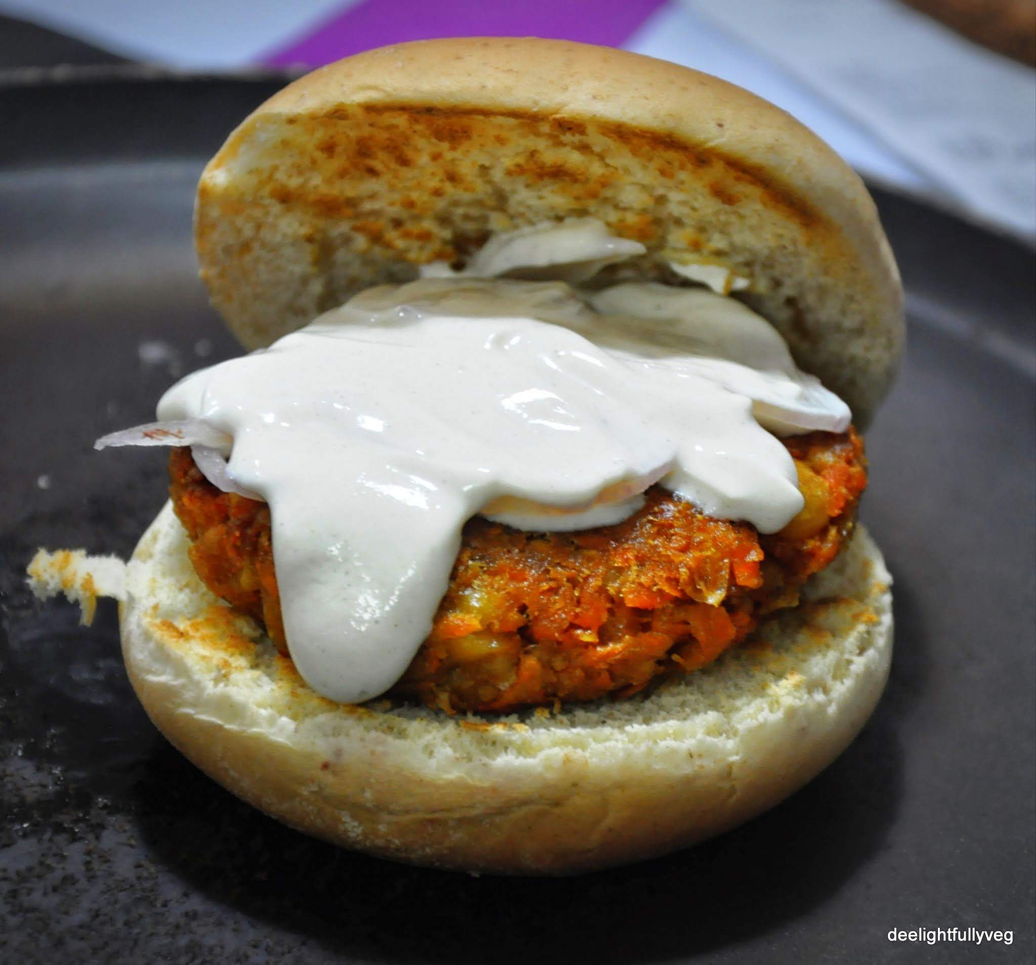 Grilled Chickpea Burgers With Creamy Lemon Tahini Sauce ...