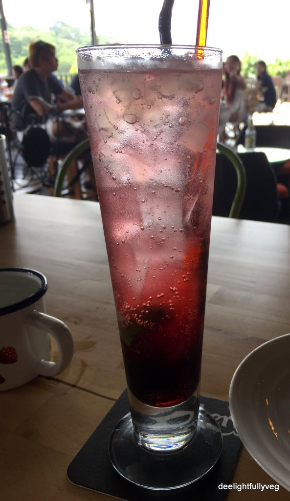 Pomegranate ice soda