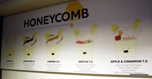 Honeycomb menu