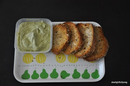 Green peas and edamame spread