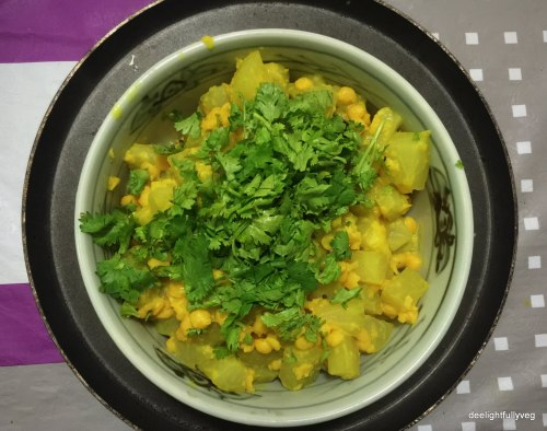 Lauki with chana dal