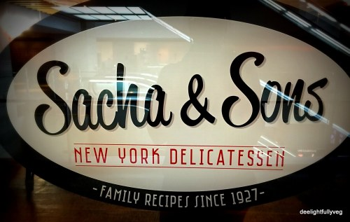 Sacha and sons nameboard