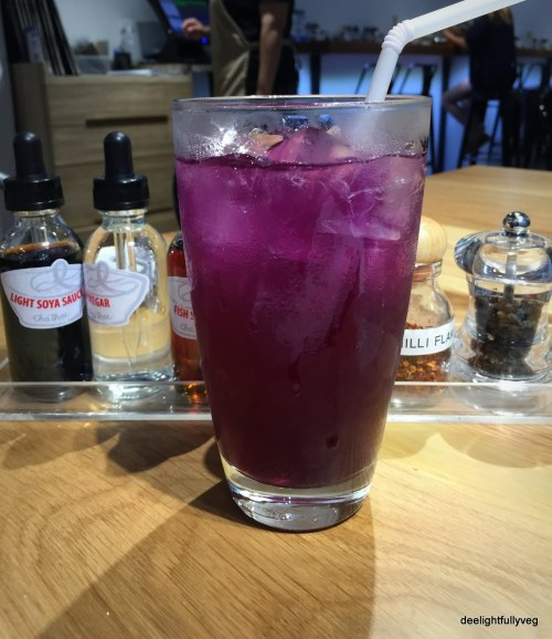 Butterfly iced pea tea