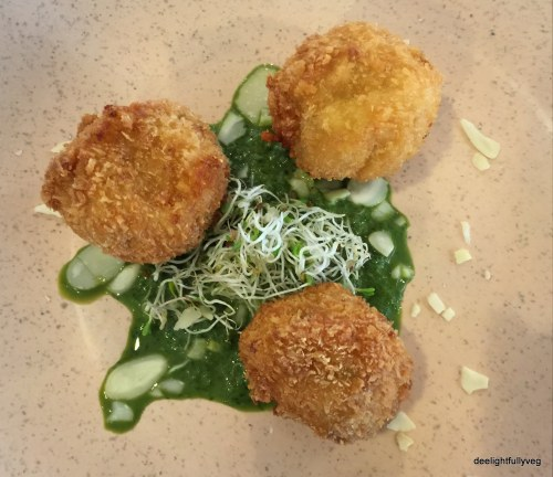 Potato and paneer croquettes