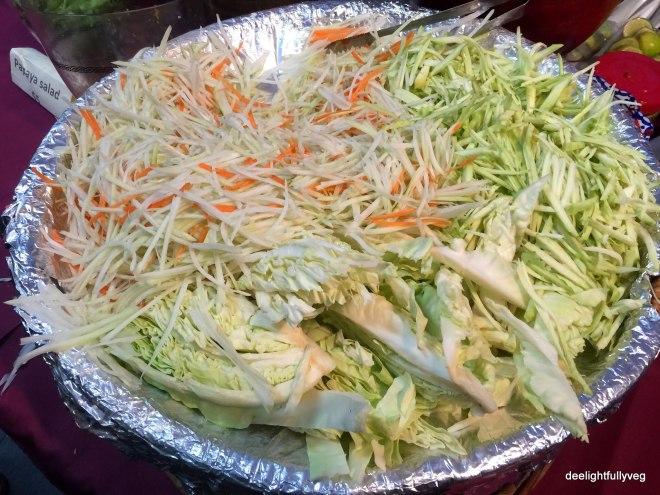 Mango and papaya salad