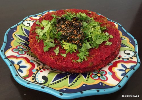 Beetroot dhokla