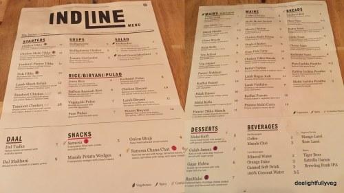 Indline menu