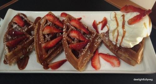 Strawberry waffle