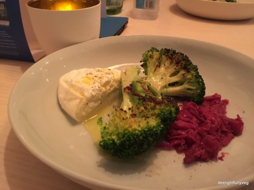 Burrata with broccoli