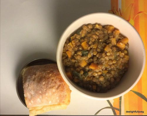 Puy lentils with za'tar
