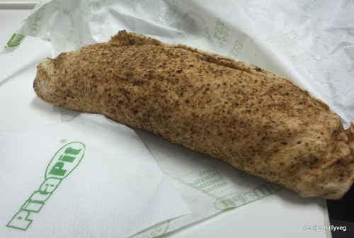 Falafel wholemeal wrap