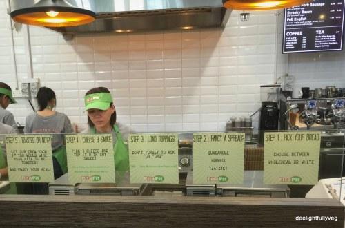 Pita Pit ordering process