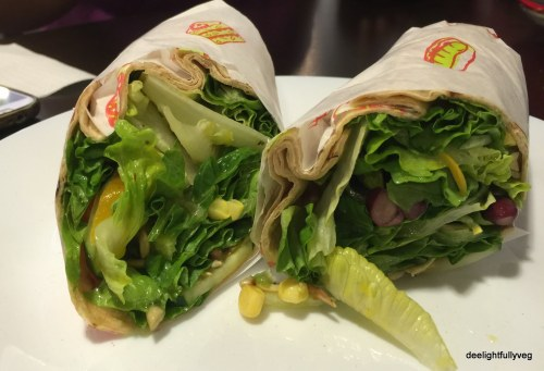 Customized veg wrap