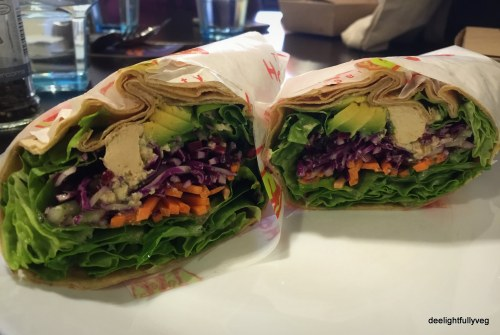 Veg wrap with vegan cheese