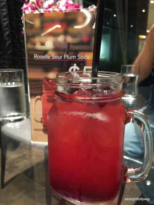 Sour plum soda