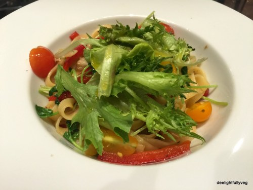 Roasted vegetable aglio olio