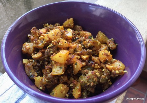 Bittergourd potato Curry
