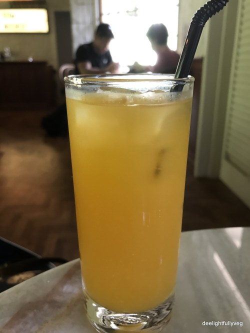 Yellow watermelon juice