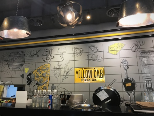 Yellow Cab Pizza counter