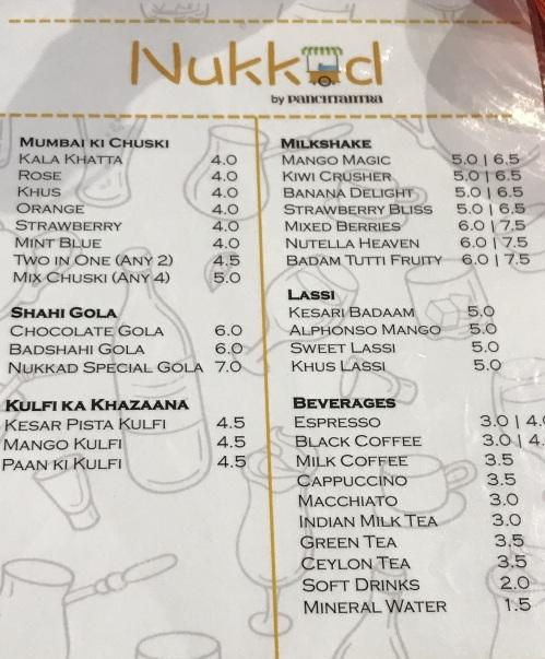 Nukkad menu