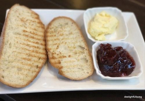 butter jam toast