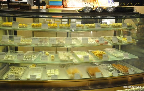 Mithai counter at Bikanervala