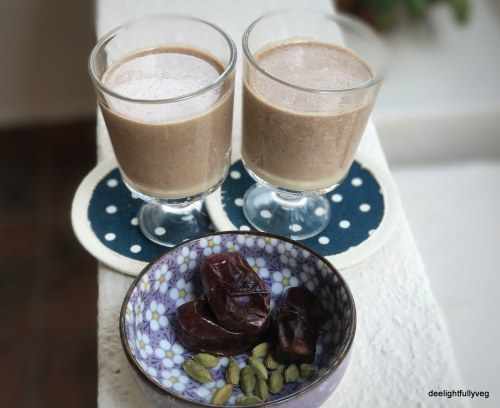 Dates and coffee milkshake