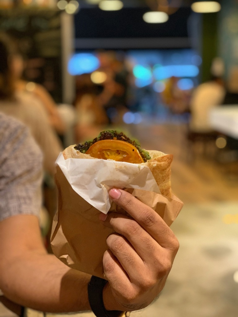 Falafel Burger at Miznon Singapore