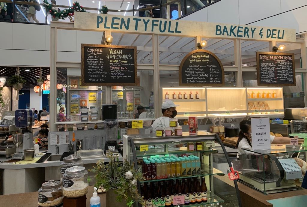 Plentyfull Deli at Great World City mall in Singapore